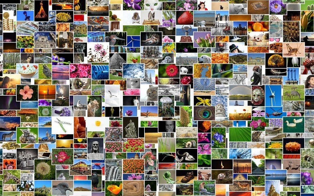 Formindsk store fotos i en fart